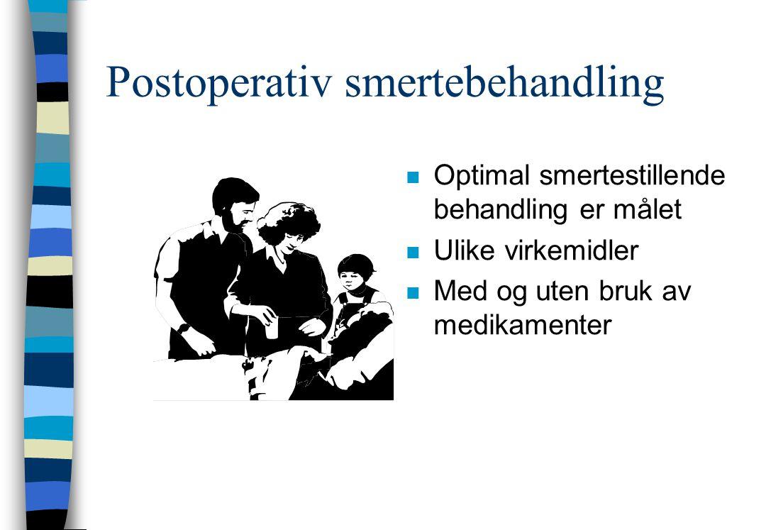 Postoperativ smertebehandling
