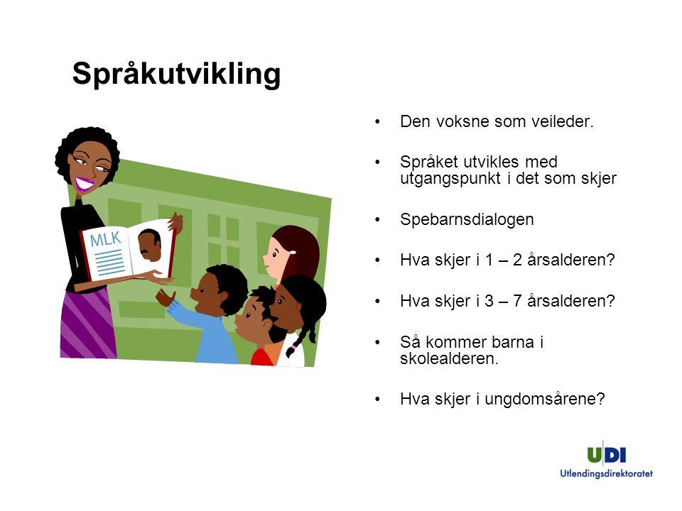 Språkutvikling Den voksne som veileder.
