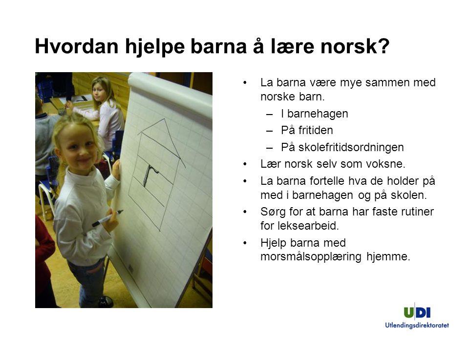 Hvordan hjelpe barna å lære norsk
