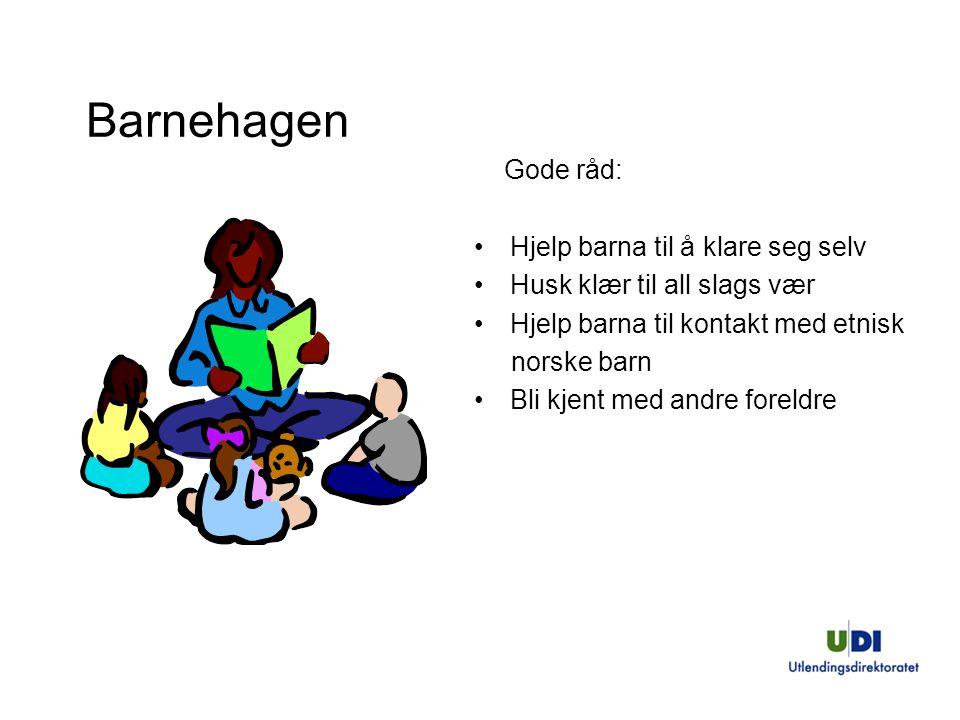 Barnehagen Gode råd: Hjelp barna til å klare seg selv