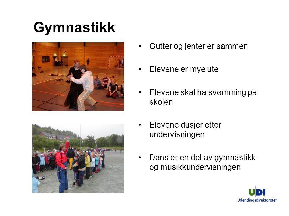 Gymnastikk Gutter og jenter er sammen Elevene er mye ute