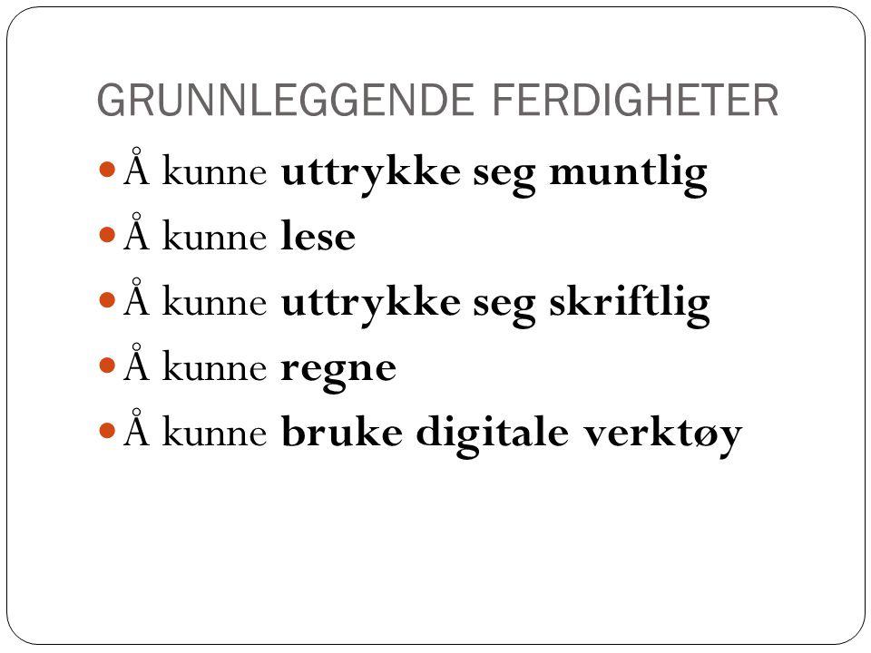 GRUNNLEGGENDE FERDIGHETER