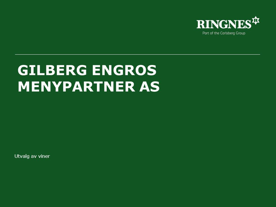 GILBERG ENGROS MENYPARTNER AS