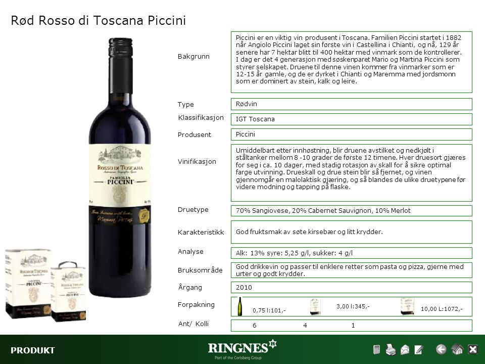 Rød Rosso di Toscana Piccini