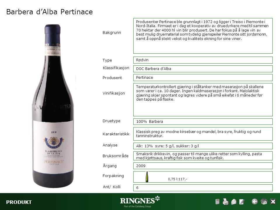 Barbera d'Alba Pertinace