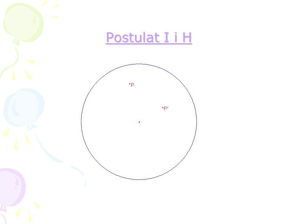 Postulat I i H