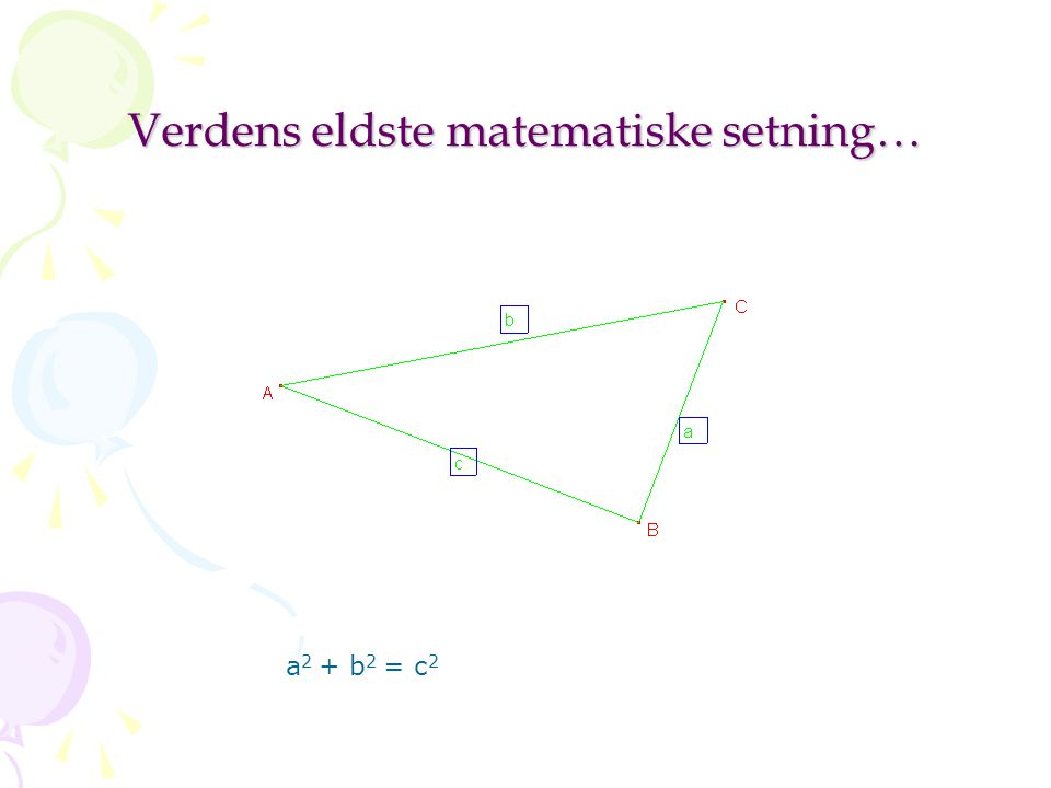 Verdens eldste matematiske setning…