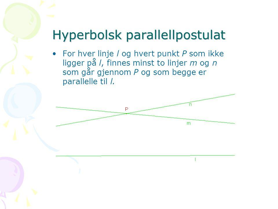 Hyperbolsk parallellpostulat