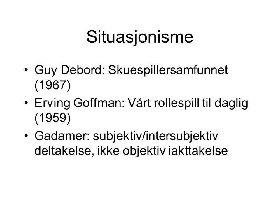 Situasjonisme Guy Debord: Skuespillersamfunnet (1967)
