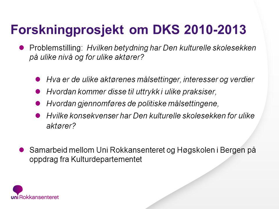Forskningprosjekt om DKS 2010-2013