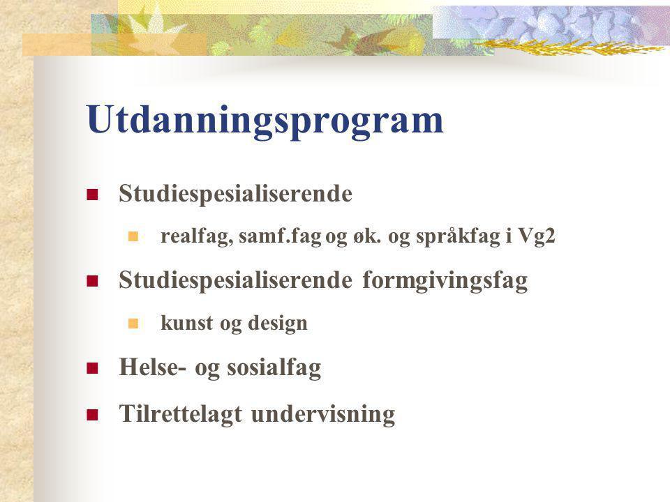 Utdanningsprogram Studiespesialiserende