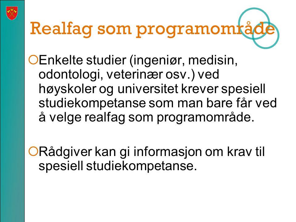 Realfag som programområde
