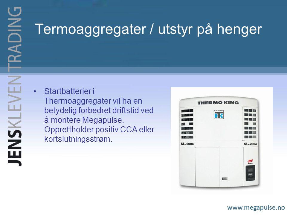 Termoaggregater / utstyr på henger