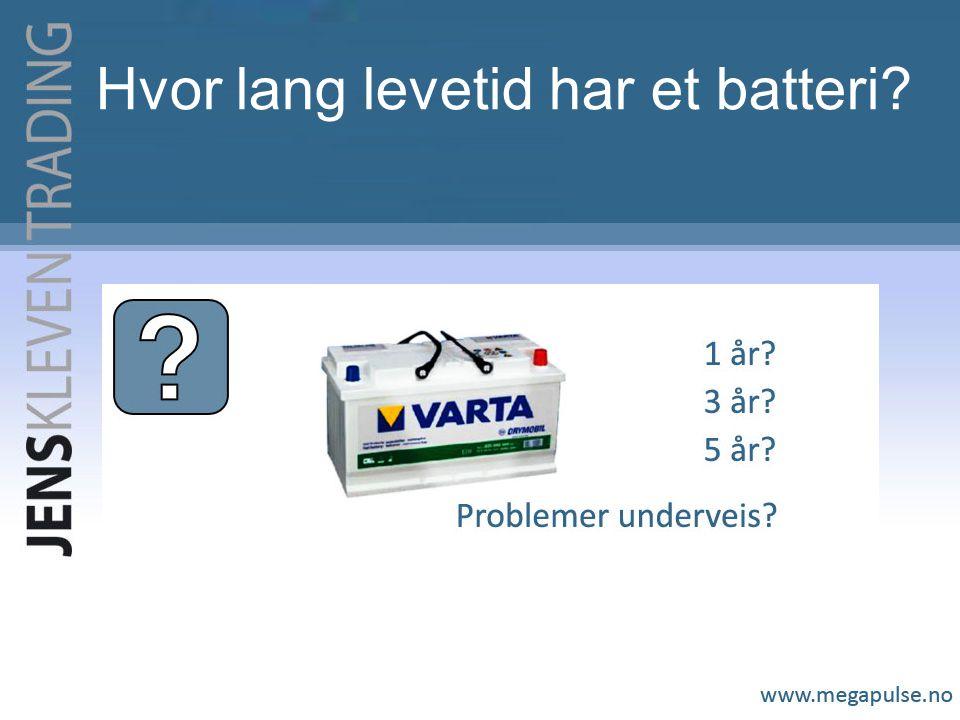 Hvor lang levetid har et batteri