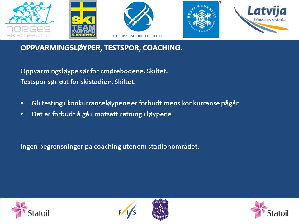 OPPVARMINGSLØYPER, TESTSPOR, COACHING.