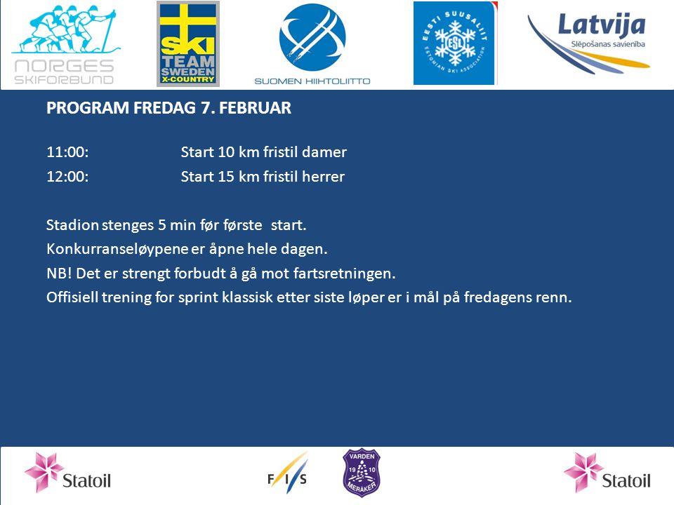 PROGRAM FREDAG 7. FEBRUAR