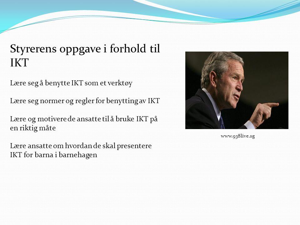 Styrerens oppgave i forhold til IKT