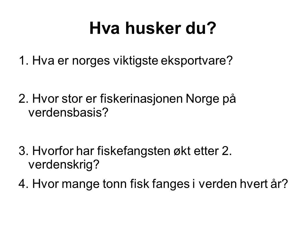 Hva husker du 1. Hva er norges viktigste eksportvare