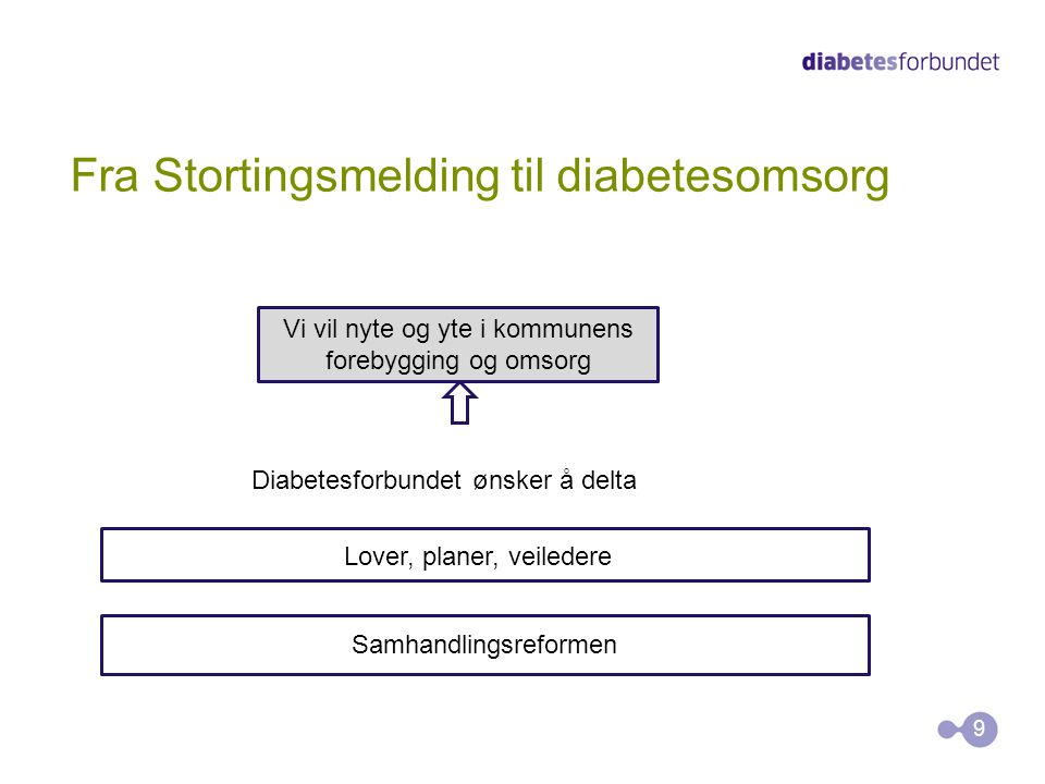 Fra Stortingsmelding til diabetesomsorg