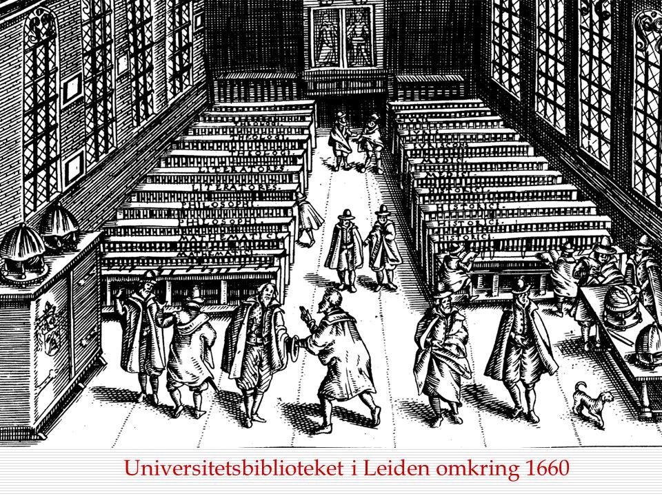 Universitetsbiblioteket i Leiden omkring 1660