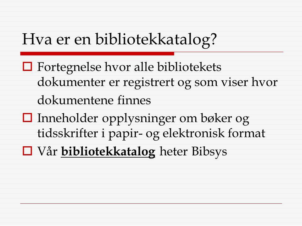 Hva er en bibliotekkatalog