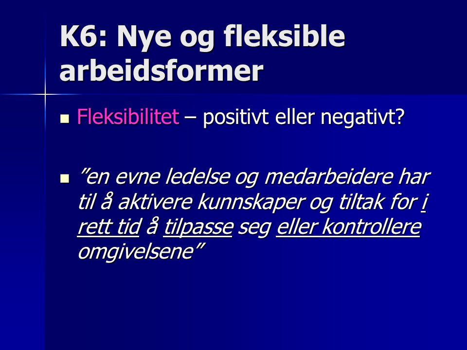 K6: Nye og fleksible arbeidsformer