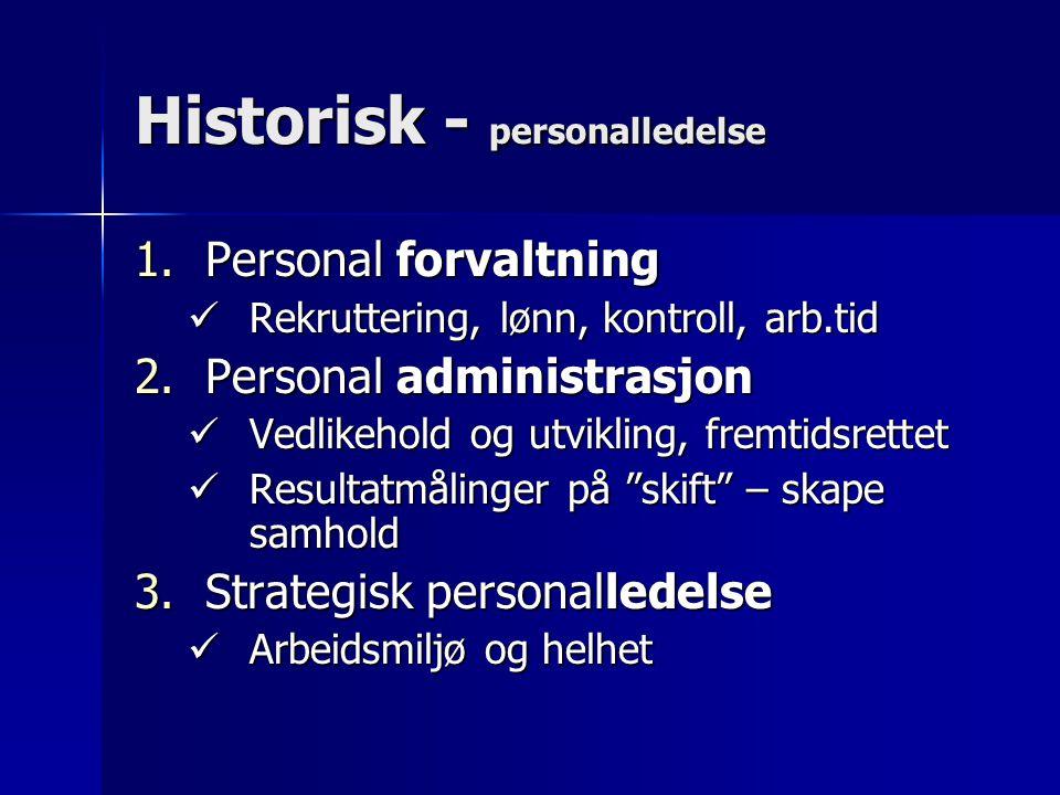Historisk - personalledelse