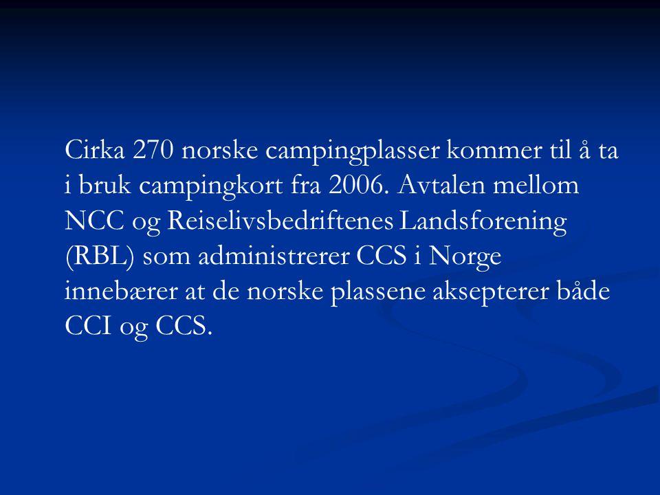 Cirka 270 norske campingplasser kommer til å ta i bruk campingkort fra 2006.