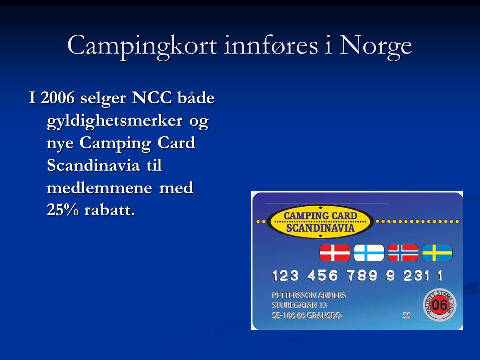 Campingkort innføres i Norge