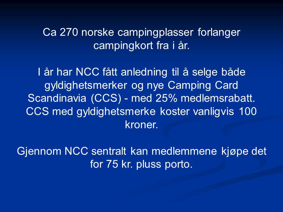 Ca 270 norske campingplasser forlanger campingkort fra i år.