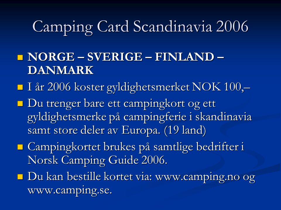Camping Card Scandinavia 2006