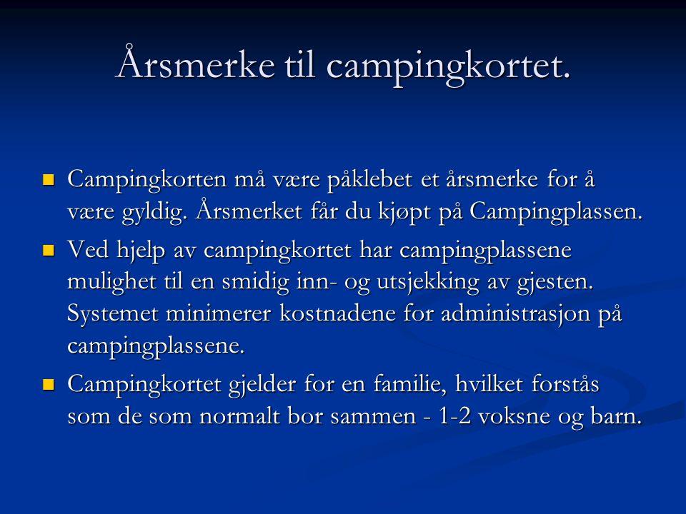 Årsmerke til campingkortet.