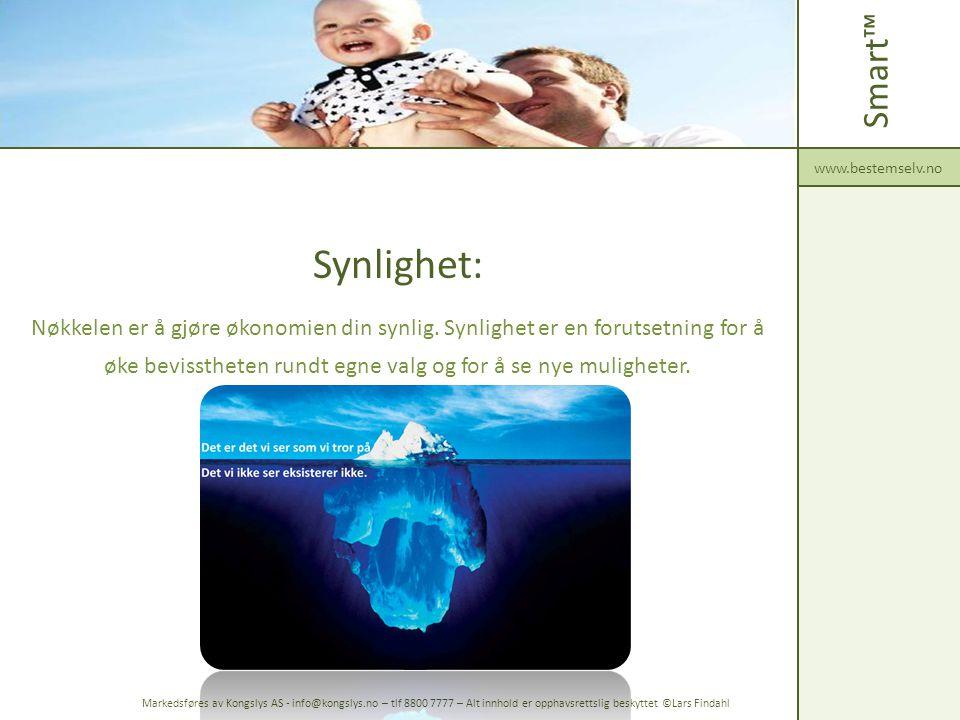 Smart™ www.bestemselv.no. Synlighet: