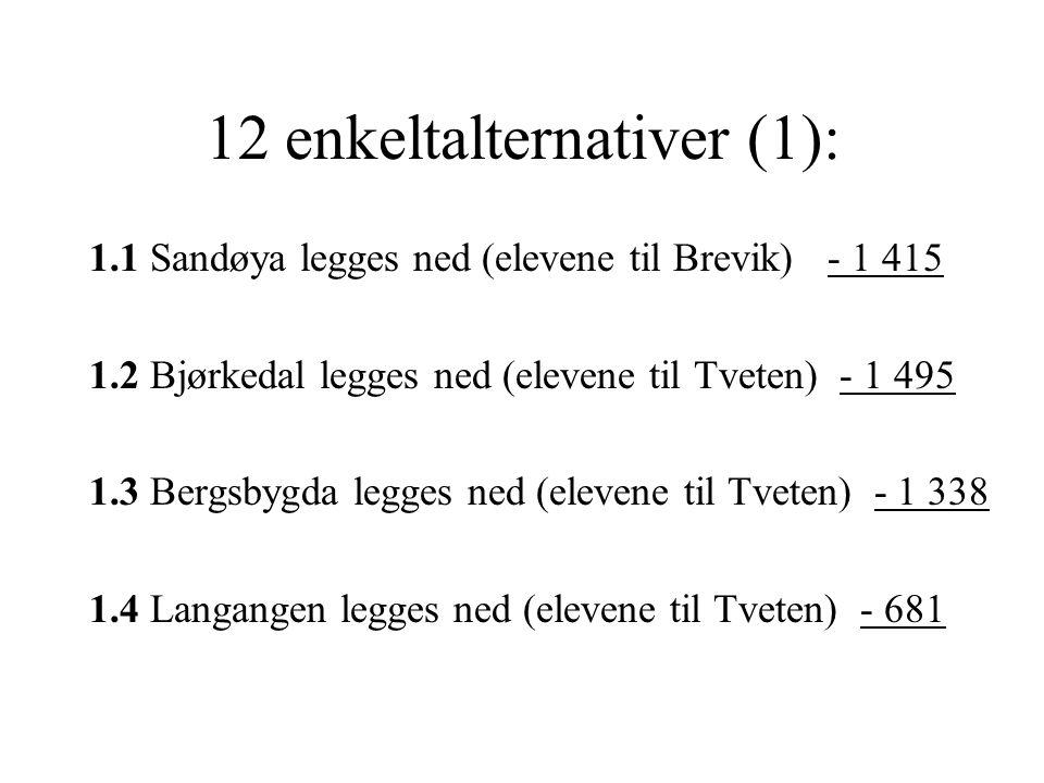 12 enkeltalternativer (1):