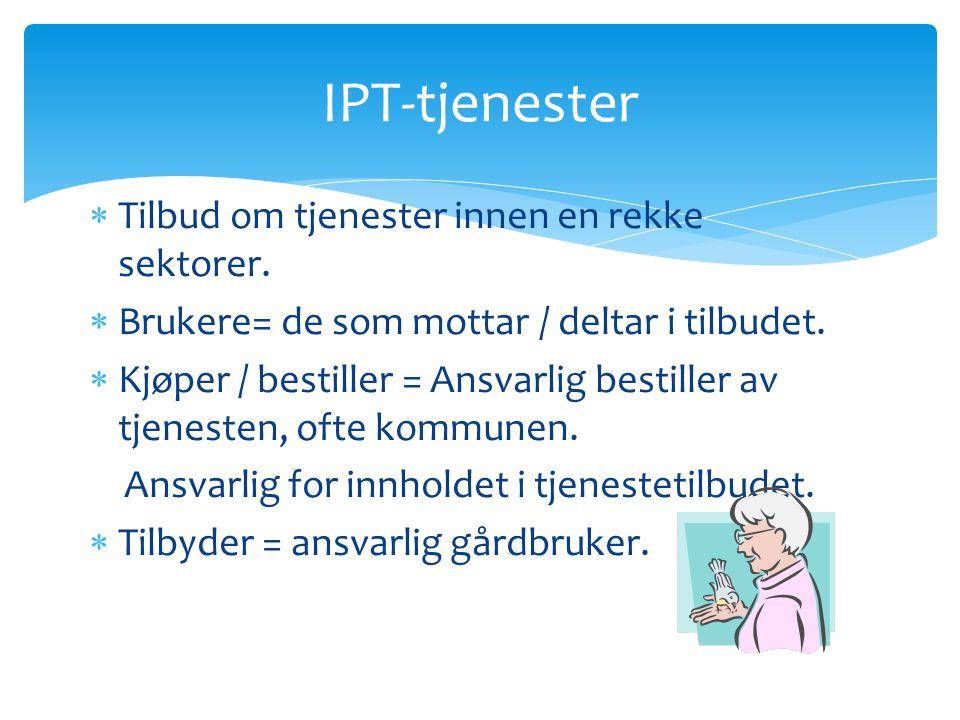 IPT-tjenester Tilbud om tjenester innen en rekke sektorer.