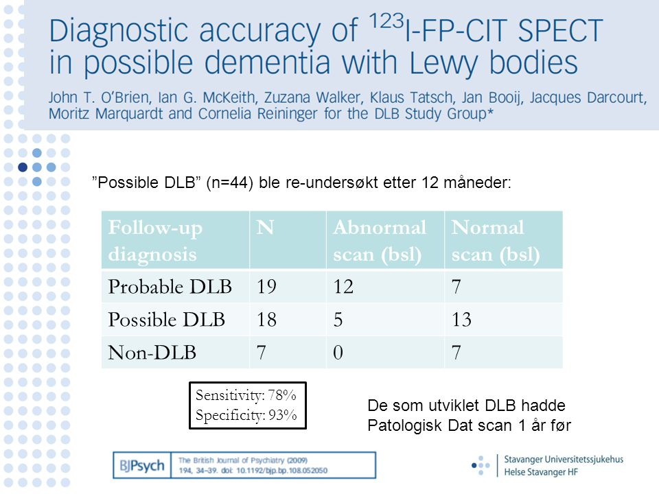 Follow-up diagnosis N Abnormal scan (bsl) Normal scan (bsl)