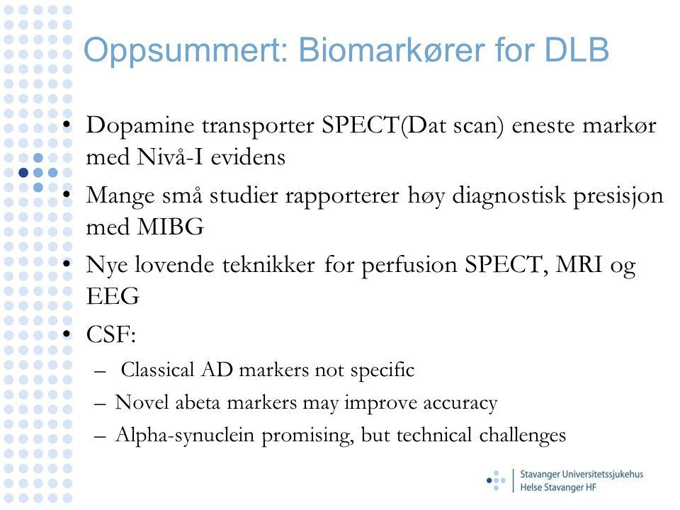 Oppsummert: Biomarkører for DLB