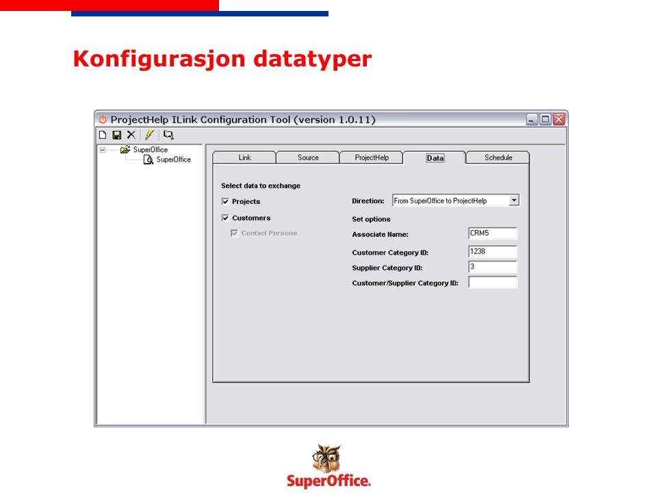 Konfigurasjon datatyper