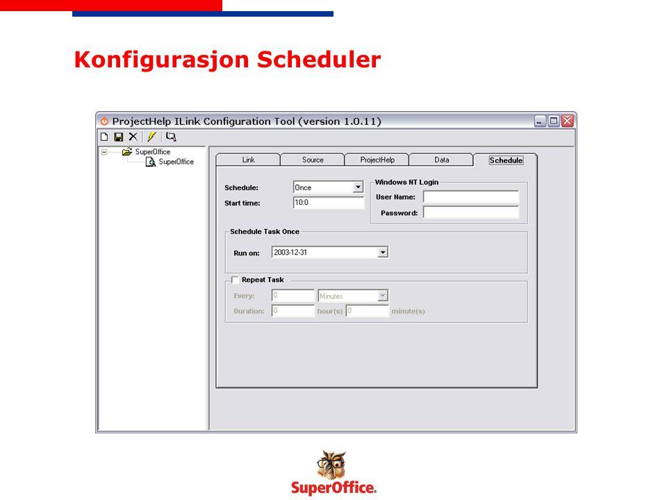 Konfigurasjon Scheduler