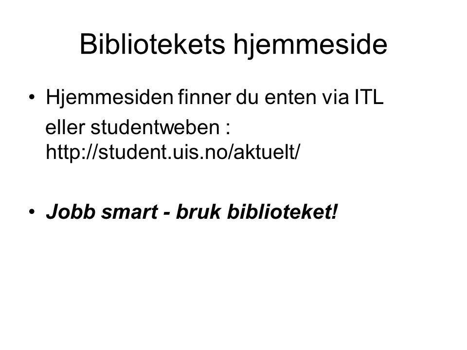 Bibliotekets hjemmeside