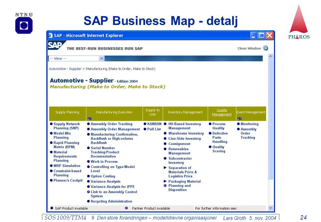 SAP Business Map - detalj