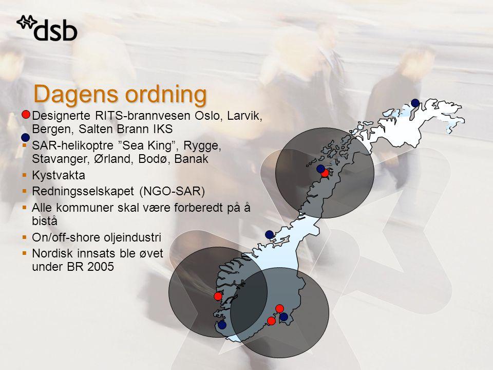 4. april 2017 Dagens ordning. Designerte RITS-brannvesen Oslo, Larvik, Bergen, Salten Brann IKS.