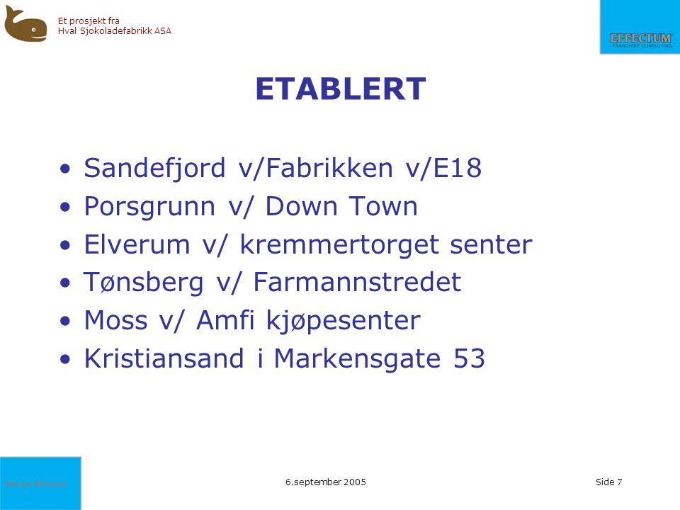 ETABLERT Sandefjord v/Fabrikken v/E18 Porsgrunn v/ Down Town