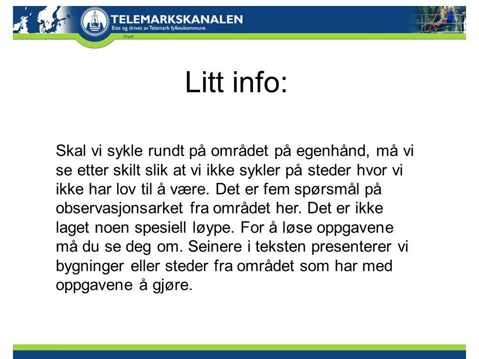 Litt info: