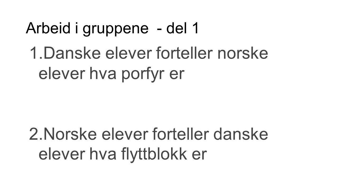Danske elever forteller norske elever hva porfyr er