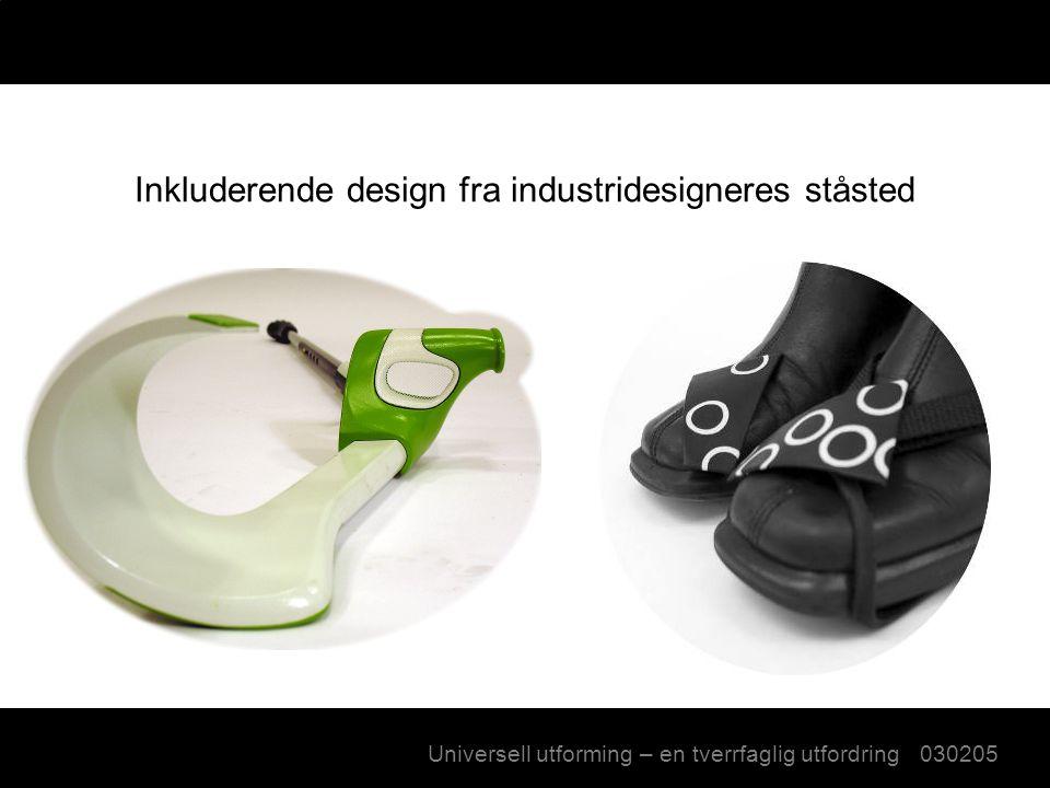 Inkluderende design fra industridesigneres ståsted