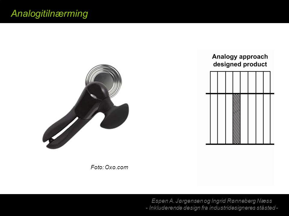 Analogitilnærming Hva er analogi… Eksempelbilde… (oxo, gåstaver)