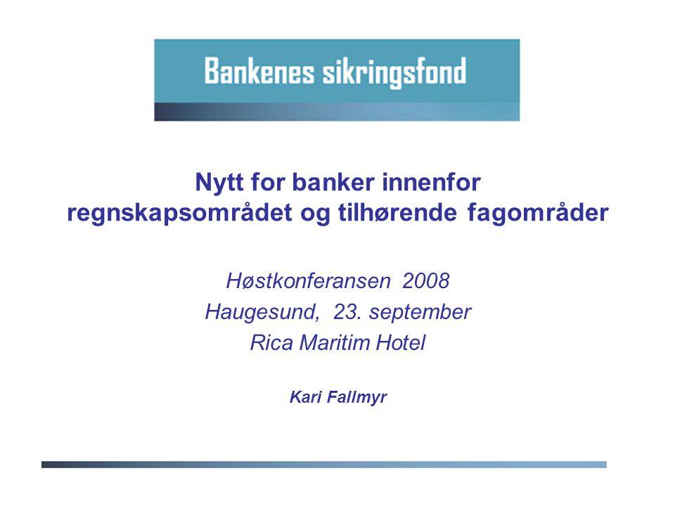Nytt for banker innenfor regnskapsområdet og tilhørende fagområder