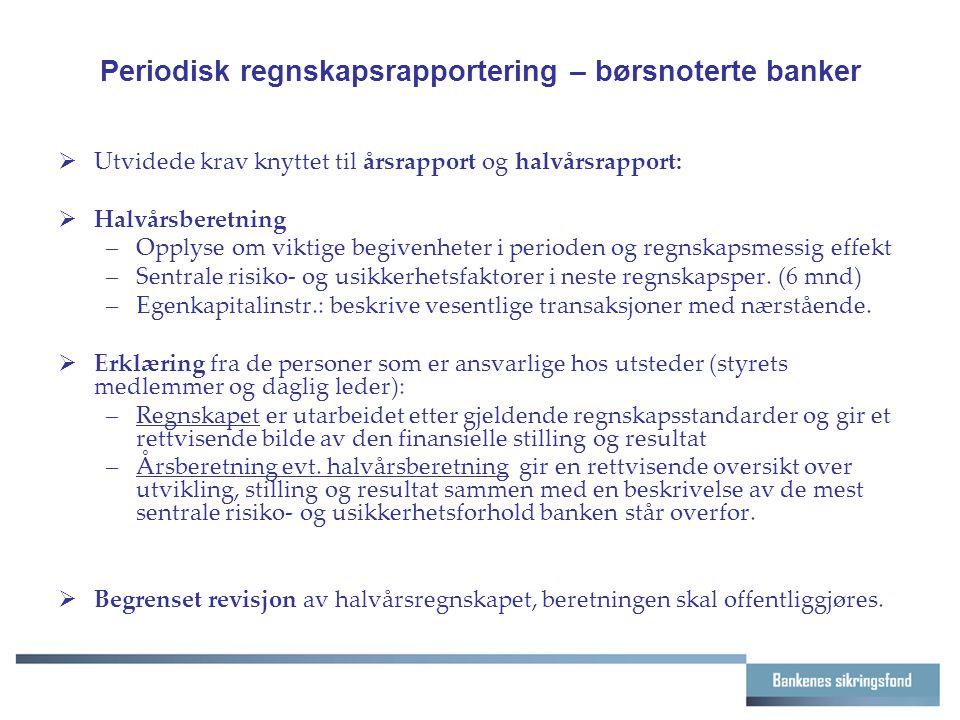 Periodisk regnskapsrapportering – børsnoterte banker