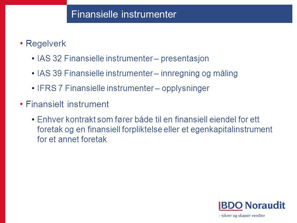 Finansielle instrumenter